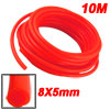 Orange Red 10M 32.8Ft 8mm OD 5mm ID Polyurethane PU Air Tube Hose