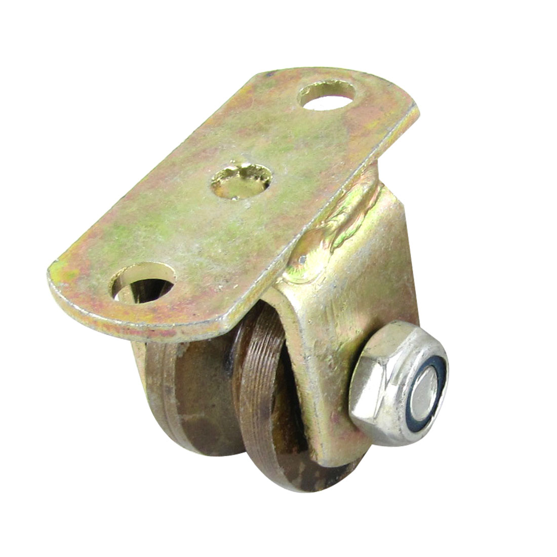 "1.5"" Diameter Wheel Metal V Groove Rigid Caster for Industrial Carts"