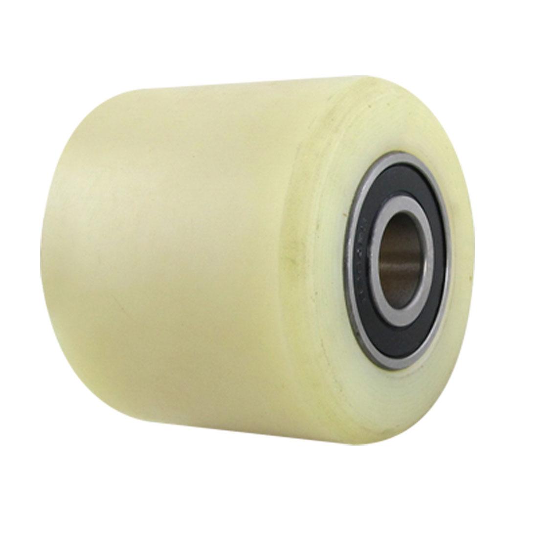 Replacement 80mm Diameter 70mm Length Nylon Wheel Beige for Pallet Truck