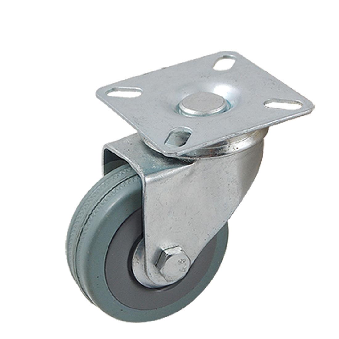 "Gray 2"" Dia Single Wheel Swivel Type Light Duty Caster Roller"