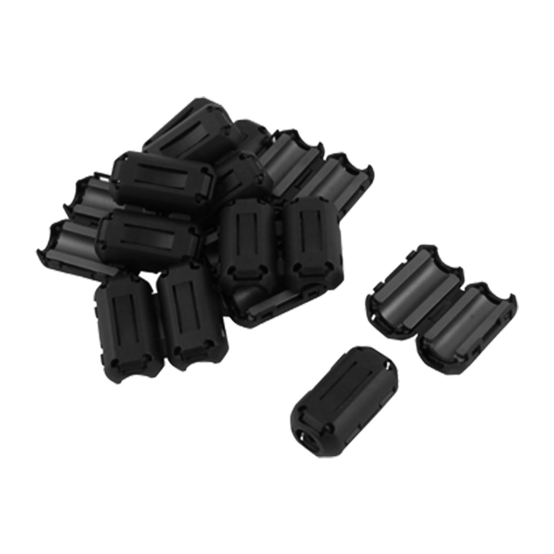 10 Pcs UF90B RFI EMI Noise Filter Clip-on Ferrite Ring Core Black for 9mm Diameter Cable