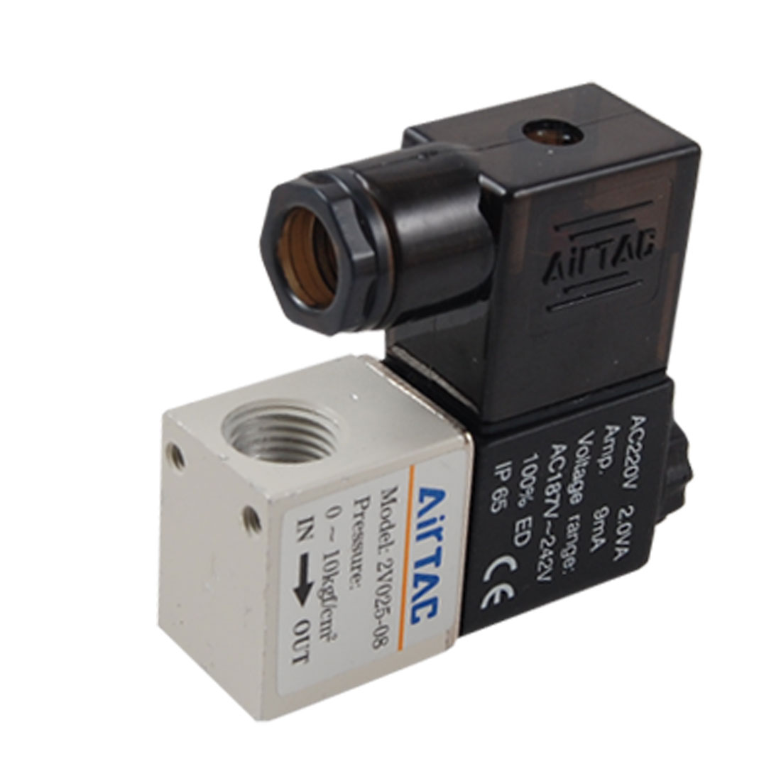 2V025-08 AC 220V 2 Way 2 Position Pneumatic Solenoid Valve