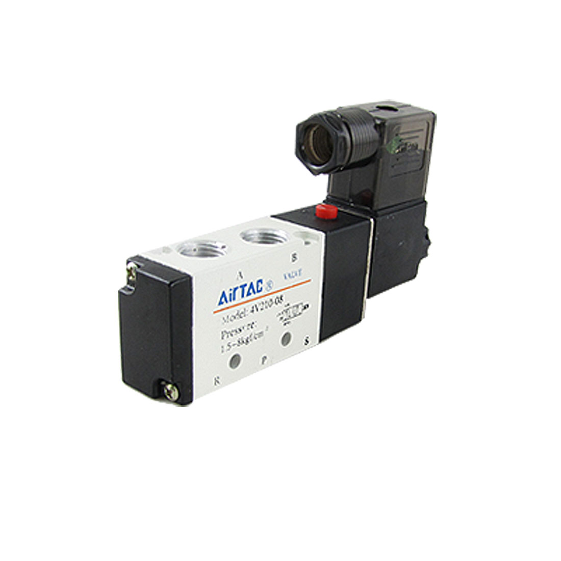 4V210-08 DC 24V 2 Position 5 Way Pneumatic Solenoid Valve