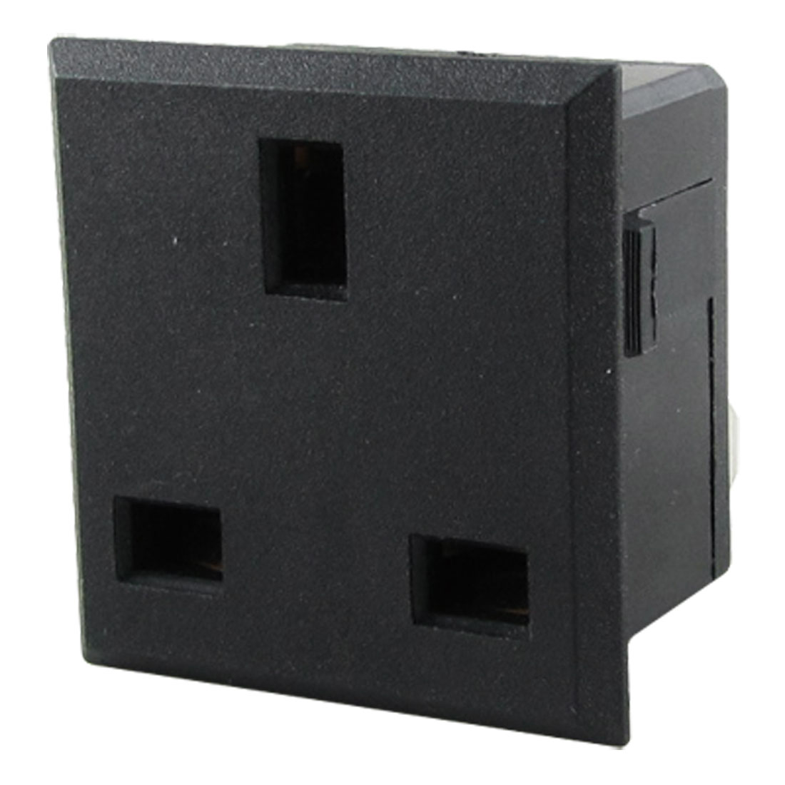 AC 250V 13A Square UK Panel Socket Plug Outlet Power Receptacle Black