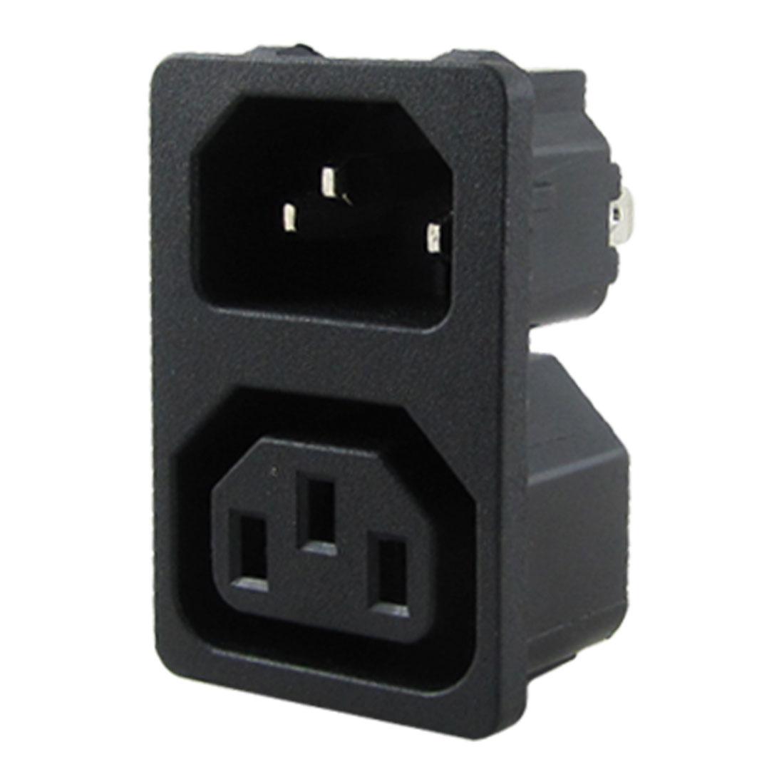 AC 10A 250V IEC 320 C13 Male C14 Female Inlet Power Socket
