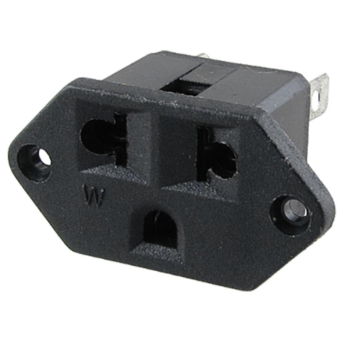 AC250V 10A AC125V 15A 3 Pin Terminals US EU Panel Socket Power Receptacle