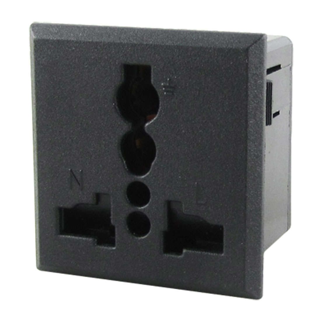 US UK EU AU Plug AC 250V 13A Square Panel Socket Plug Outlet Power Receptacle Black