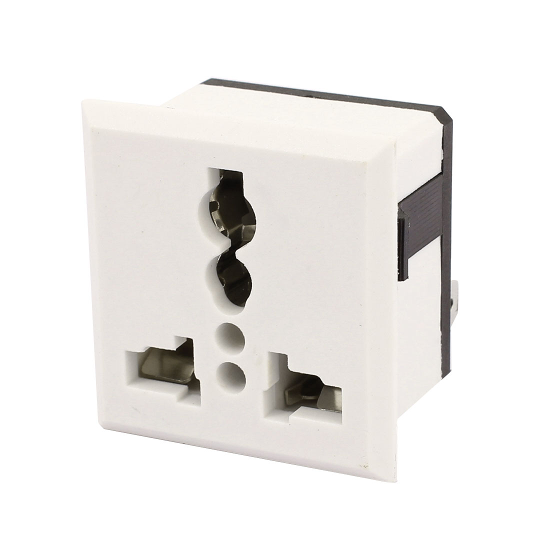 SS-801 AC 250V 16A 3 Terminals Universal Panel Socket Plug Outlet White