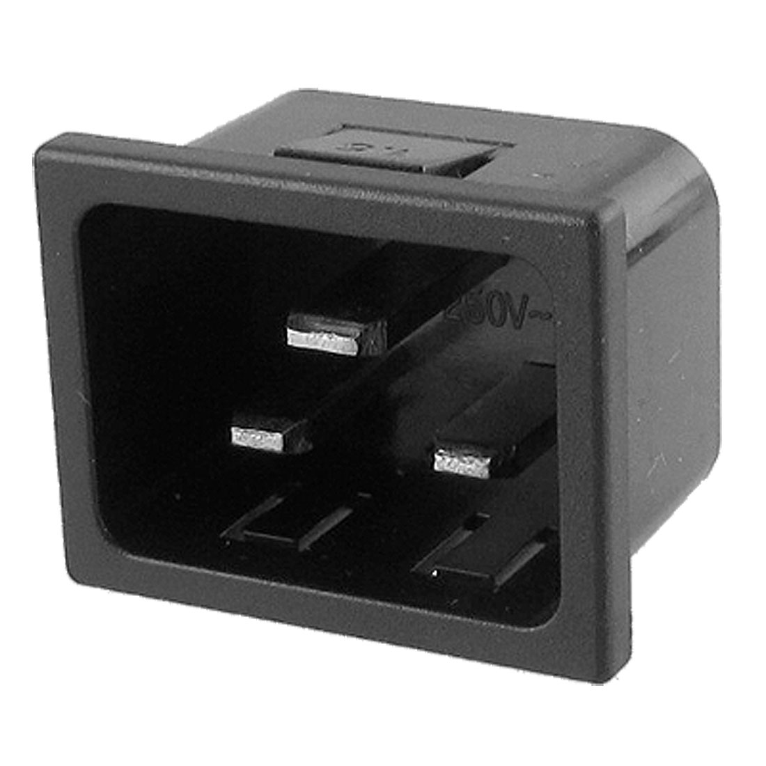 AC 250V 16A IEC 320 C20 Panel Mount Plug Adapter Power Connector Socket