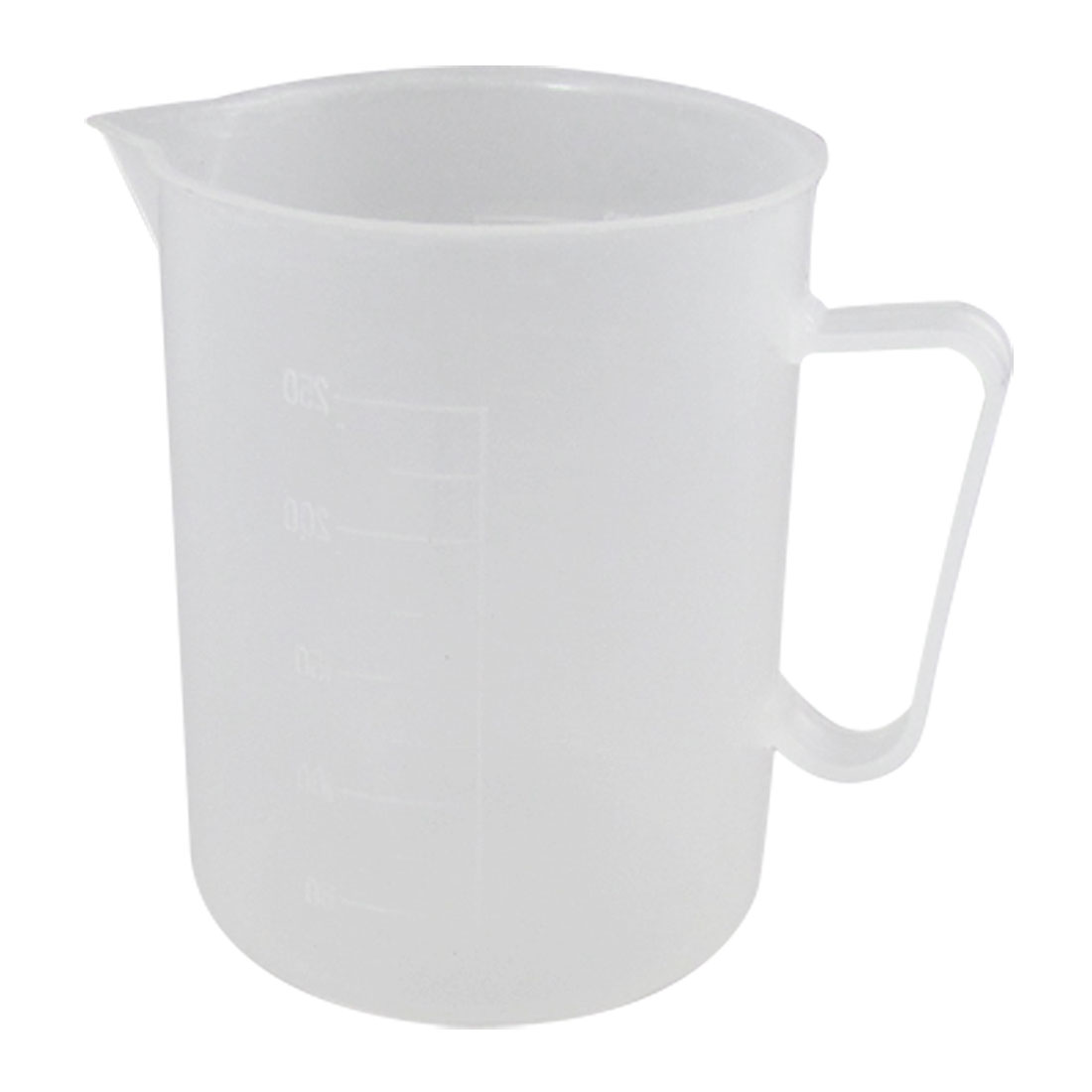 Laboratory Chemistry Set Clear White Plastic Cup Beaker 250mL