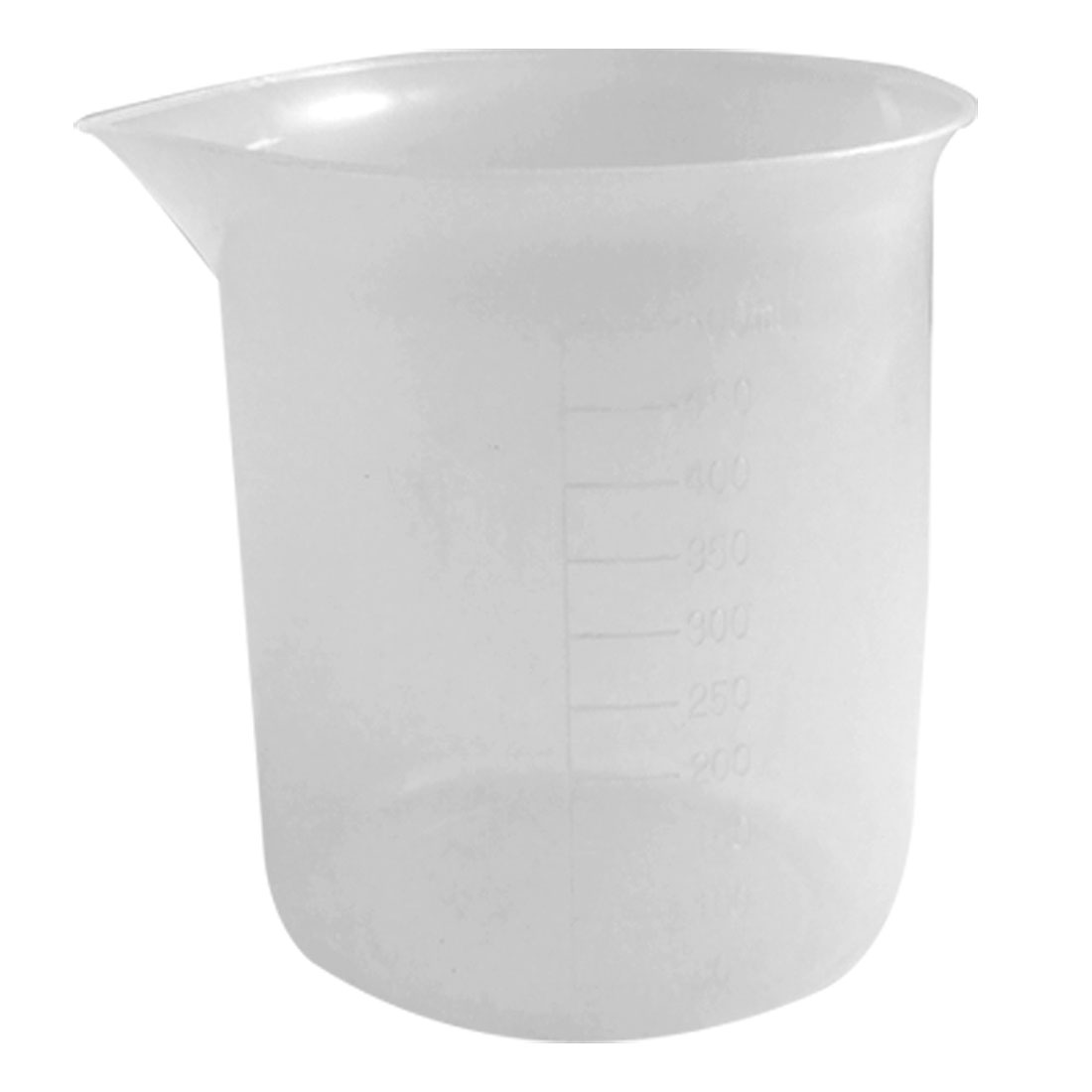Laboratory Measurements Transparent Plastic Graduated Cup Beaker 500mL