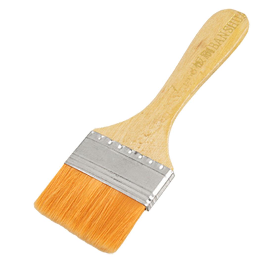 "1.9"" Width Synthetic Hair Head 5.9"" Long Oil Paint Brush Tool"
