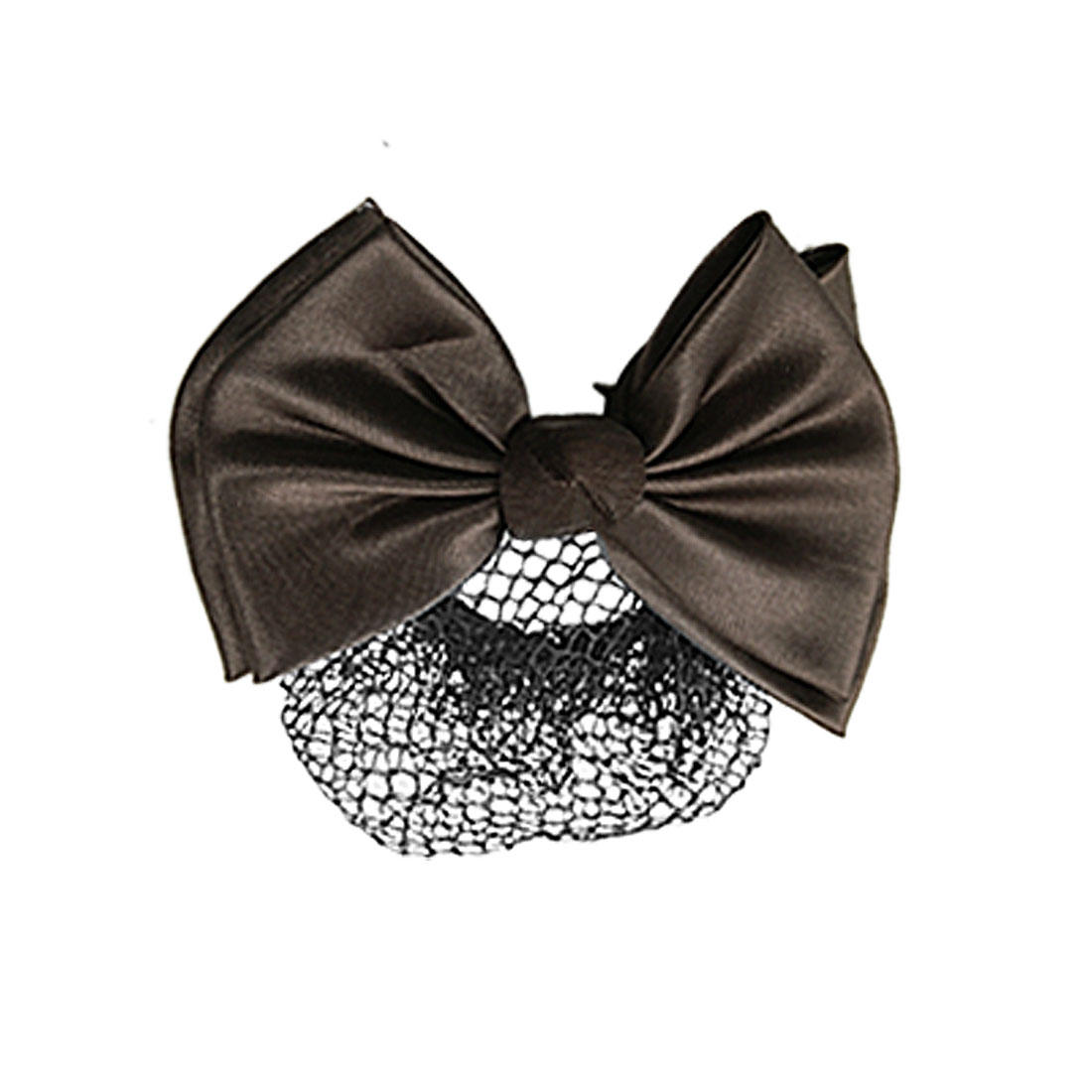 Coffee Color Bowtie Black Hairnet Design Metal Hair Clip for Woman