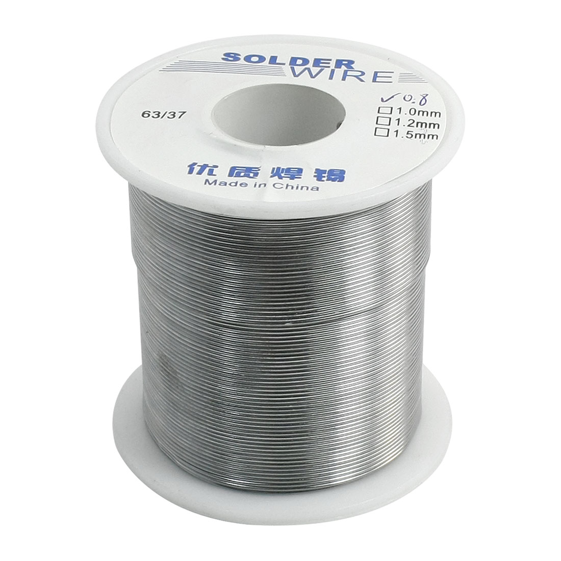 "0.8mm 0.031"" 63/37 Tin Lead Alloy Rosin Cored Soldering Solder Wire Spool"