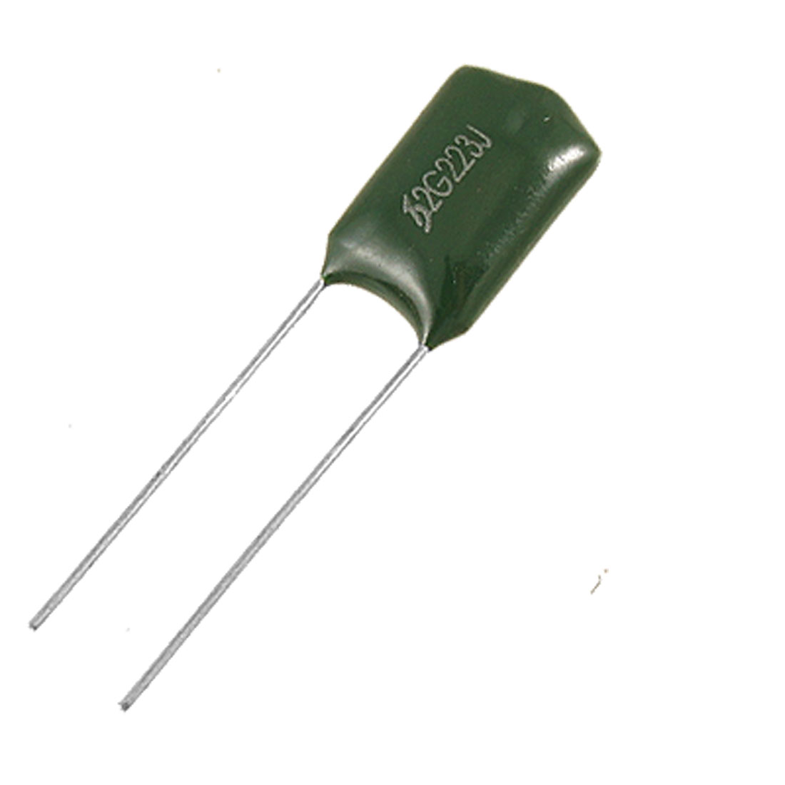 100 Pcs 400V 0.022uF 5% Through Hole DIP Mylar Polyester Film Capacitors Green
