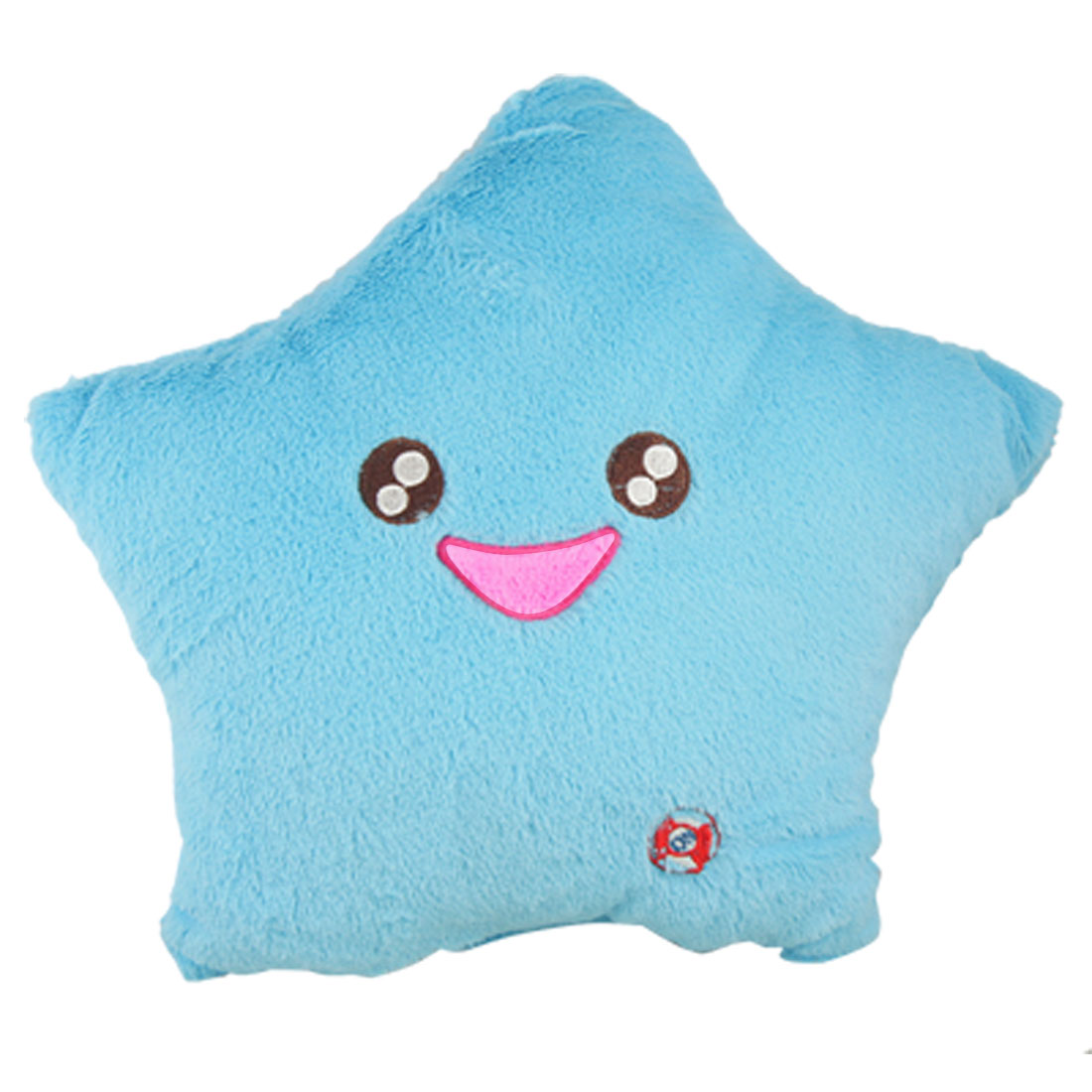 Aqua Color Smile Star LED Light Lamp Throw Toss Cushion Pillow