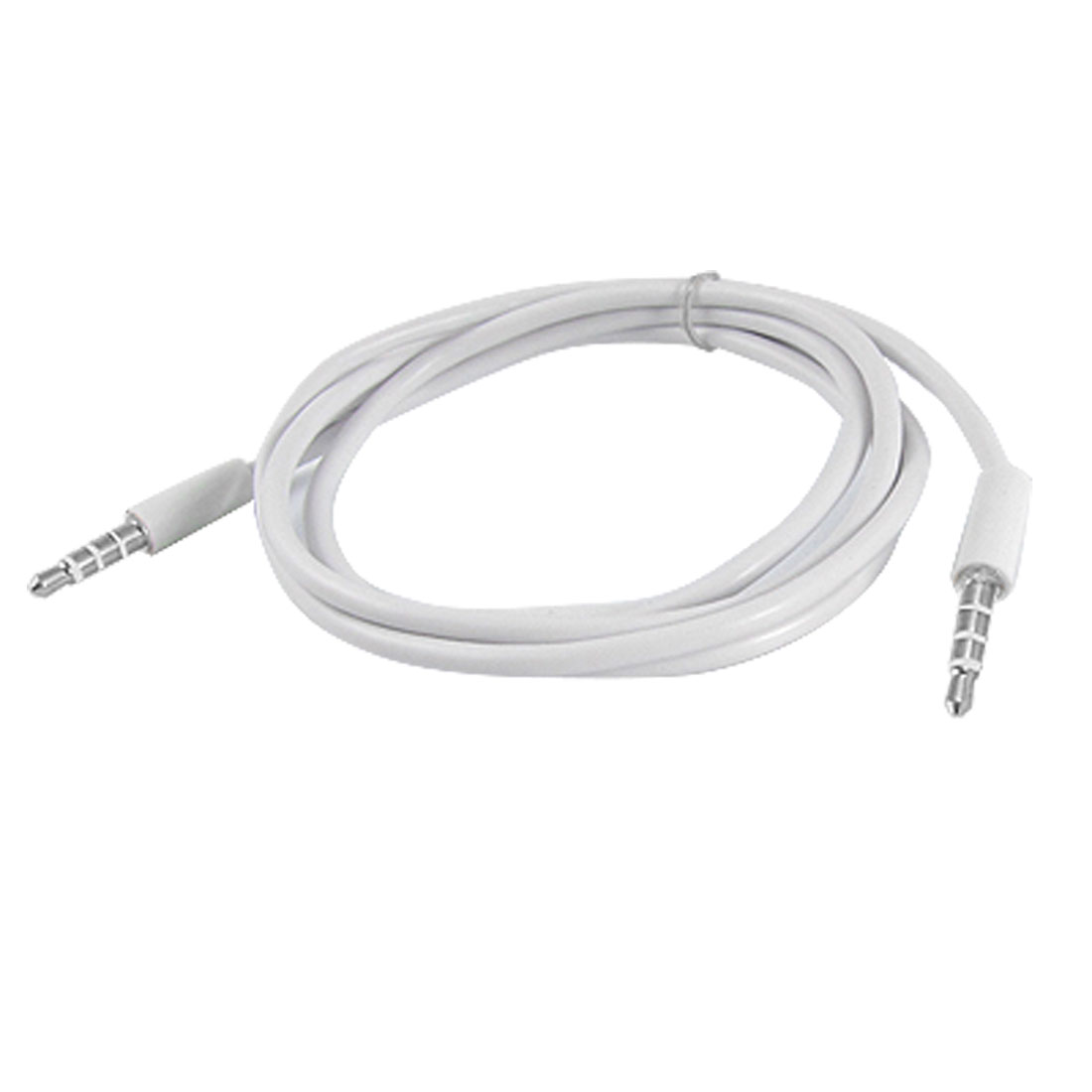 White 1M 3.5mm Connector Adapter Male to Male M/M Audio Extension Cable