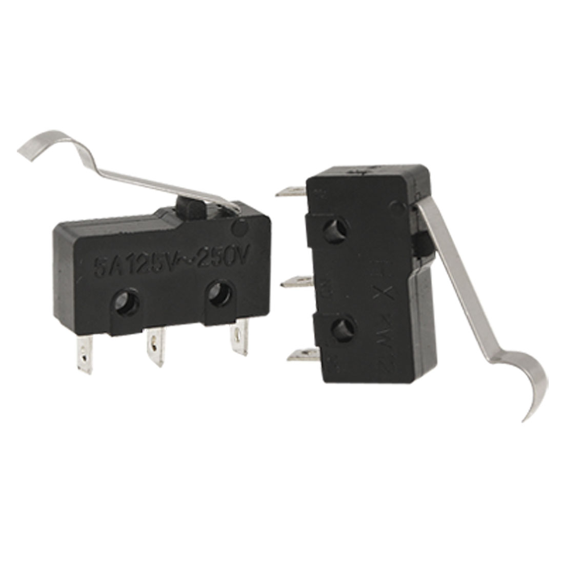 3 Pcs Hinge Lever Actuator Black Micro Switch 250V 5A