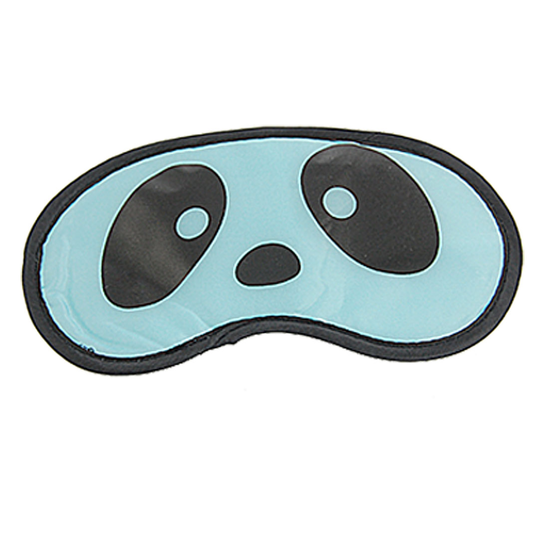 2 Pcs Blue Panda Eyes Print Built in Sponge Sleeping Aid Eye Mask Shade Blinder