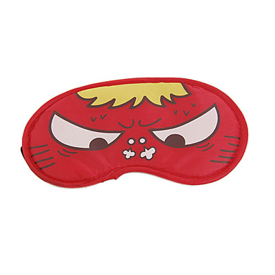 2 Pcs Cartoon Angry Cat Eyes Decor Red Sleeping Eyeshade Eye Mask Cover