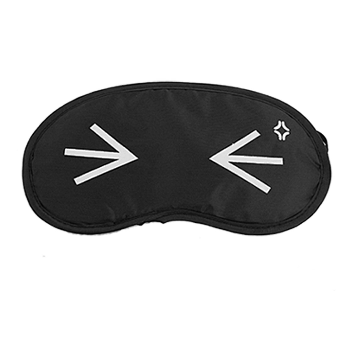 2 Pcs Cartoon Embarrass Eyes Pattern Black Nylon Eye Mask Eyeshade Sleep Blinder