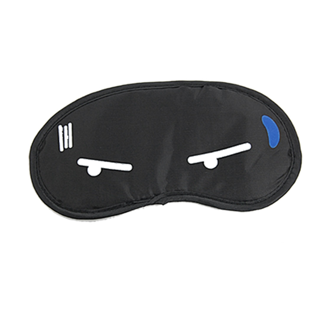 2 Pcs Black Reverse Side Cartoon Sweat Print Eyeshade Eye Cover Sleeping Aid