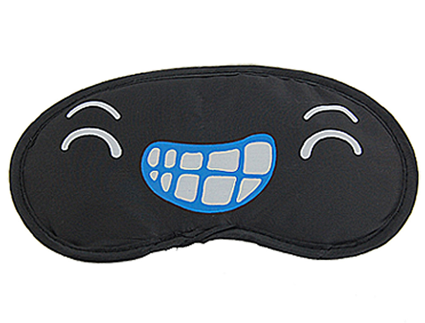2 Pcs Cartoon Grins Eyes Pattern Sleep Aid Eyeshade Eye Mask Blindfold