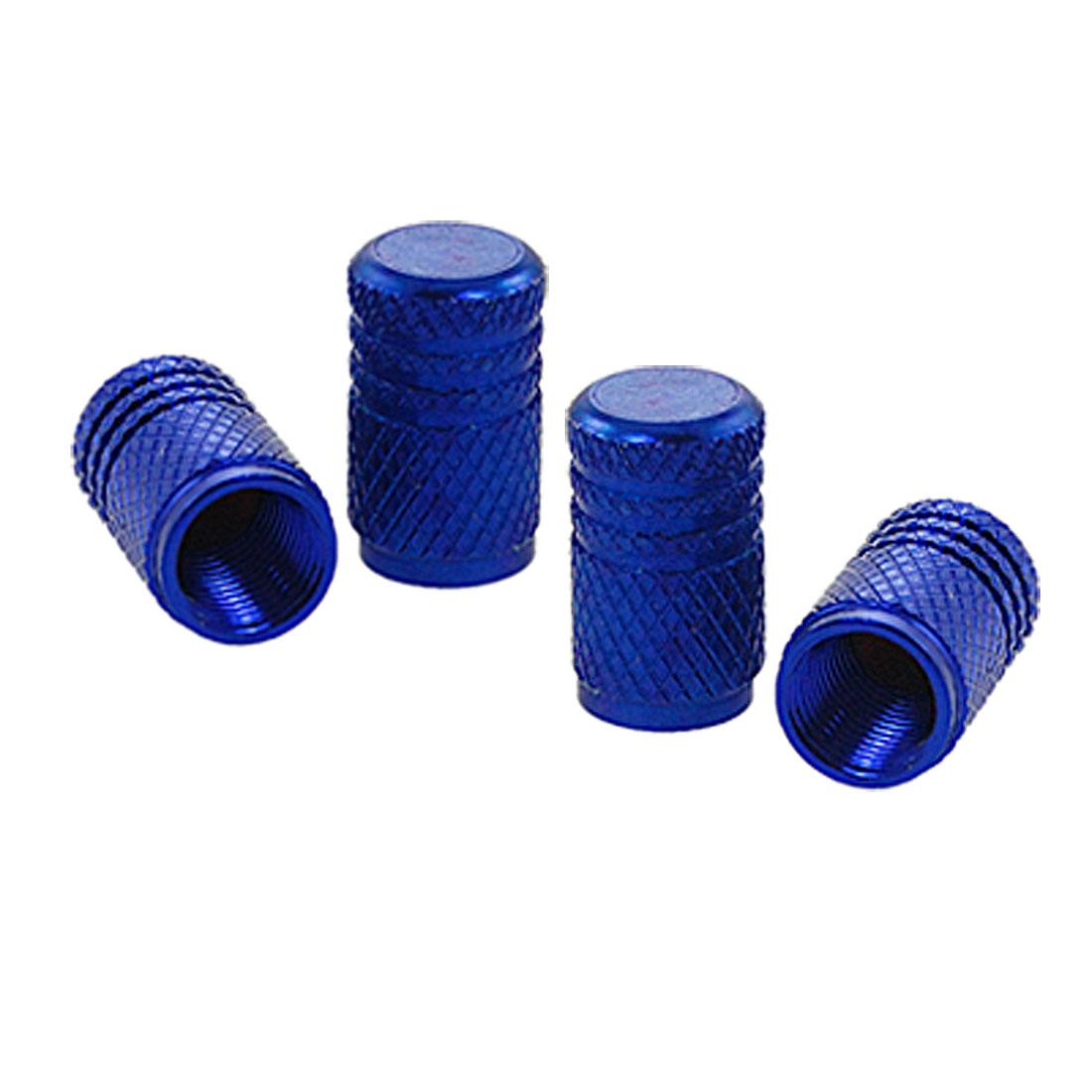 Knurling Pattern Metal Car Auto Tyre Tire Stem Covers Caps 4 Pcs