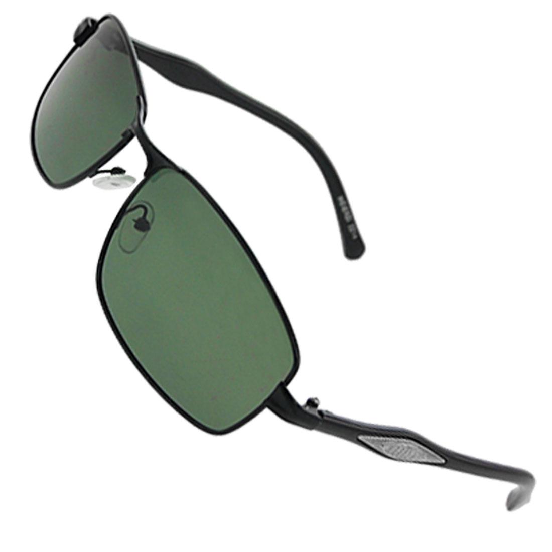 Travel Black Full Rim Plastic Arm Polarized Sunglasses for Men