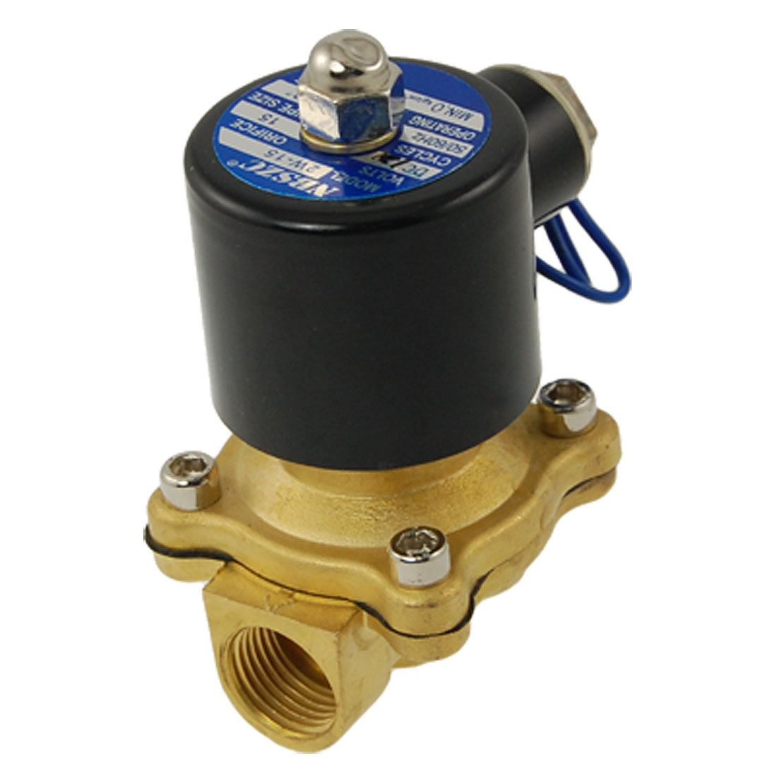 2W-160-15 1/2BSP Female Thread 2 Way 2 Position DC 12V Water Gas Solenoid Valve