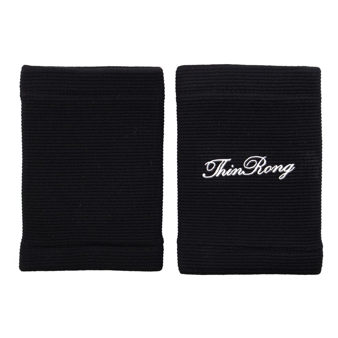 2 Pcs Black Pullover Style Elestic Wrist Sweatband Support