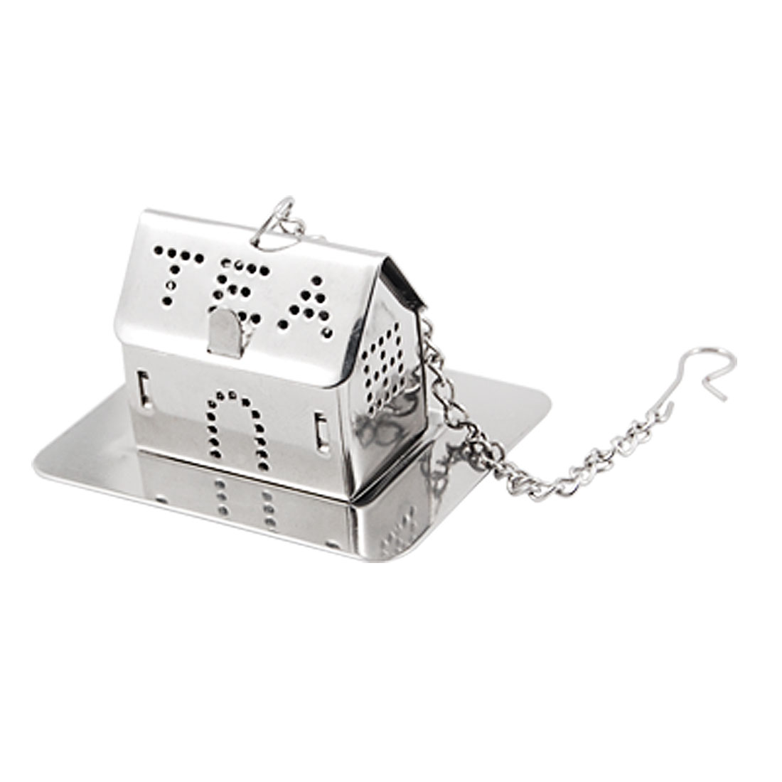 Stainless Steel Mini Tray House Shaped Tea Infuser Strainer Mesh Ball