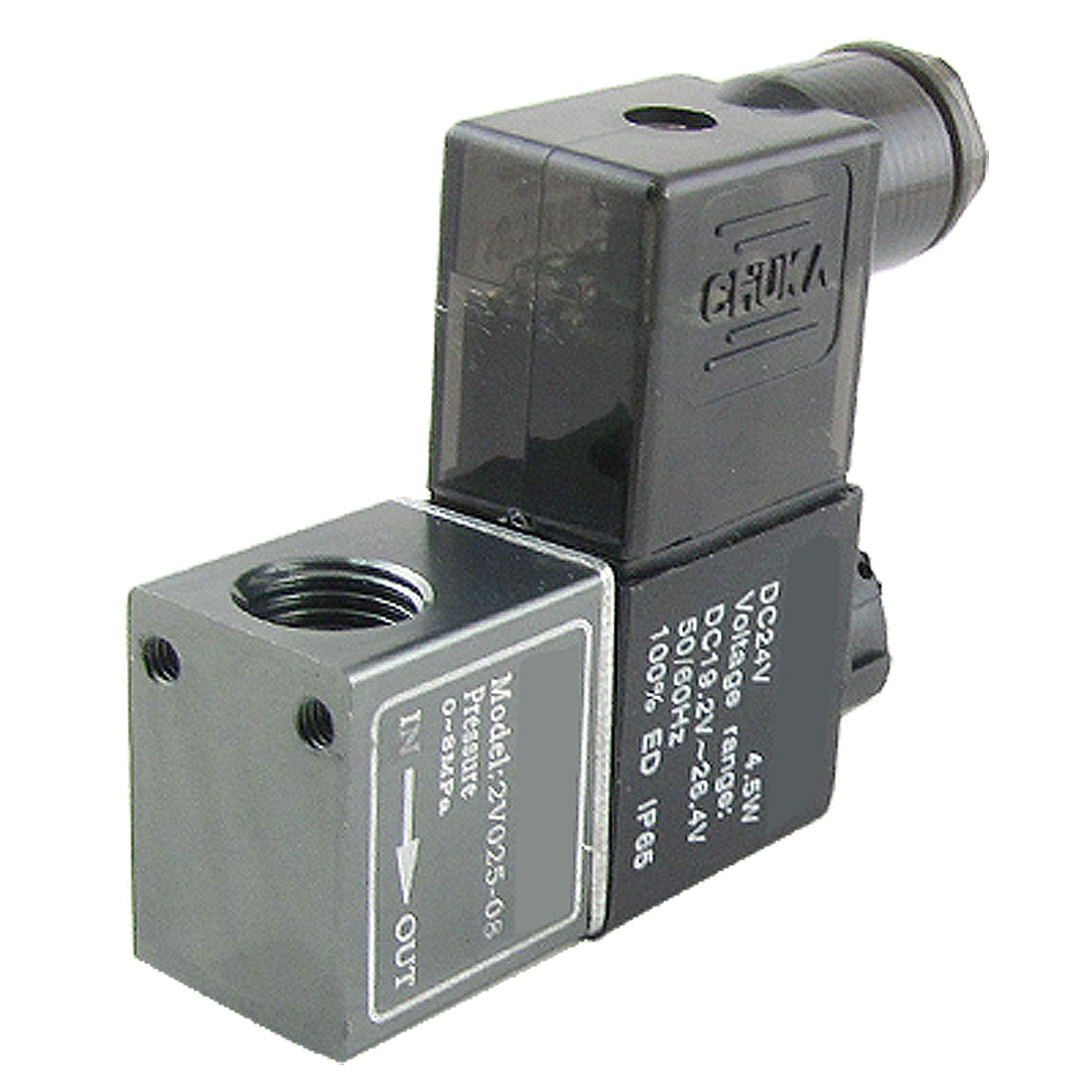 2C025-08 DC 24V 2 Position 2 Way Pneumatic Air Solenoid Valve