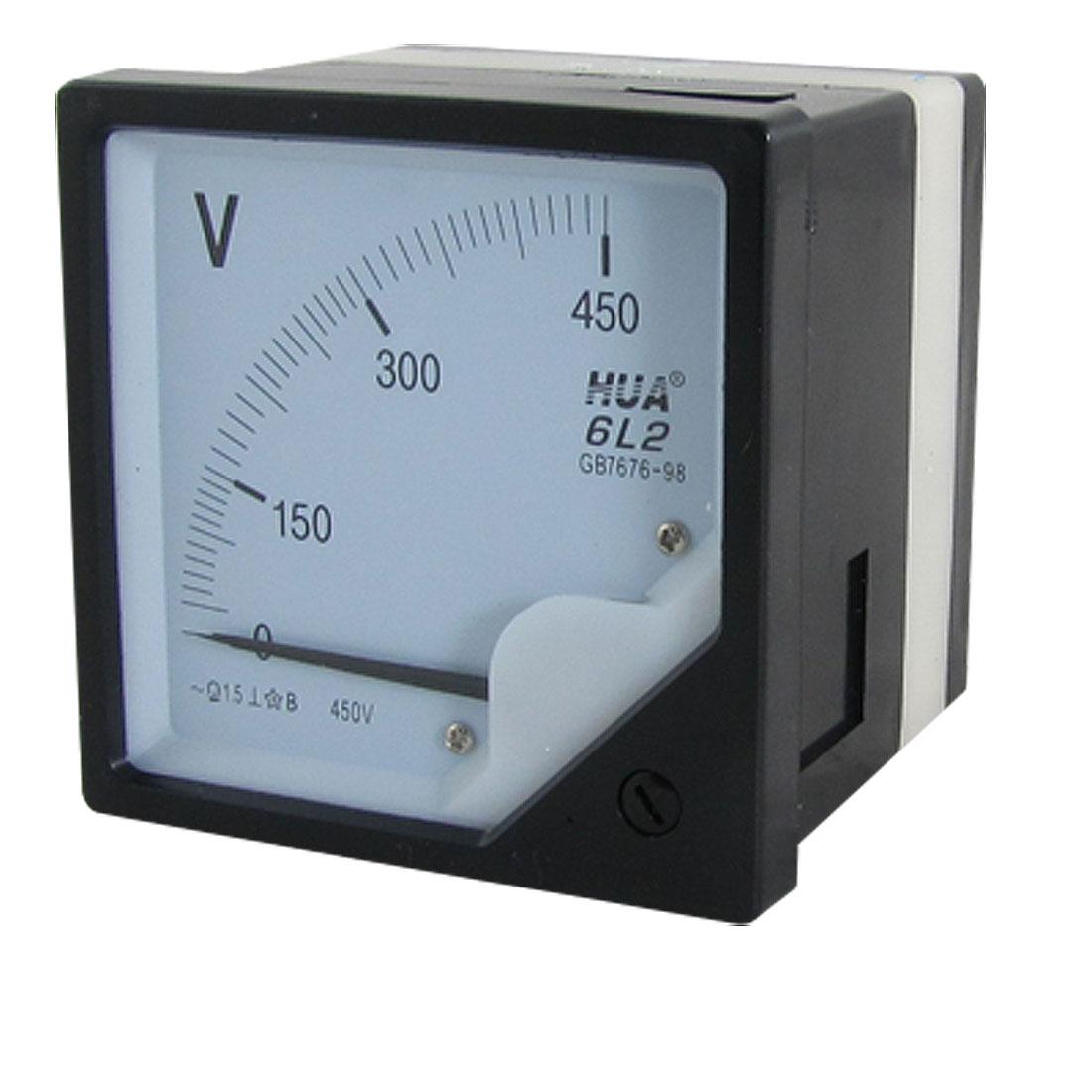 Square Panel AC 0-450V Volt Voltmeter Panel Meter Gauge