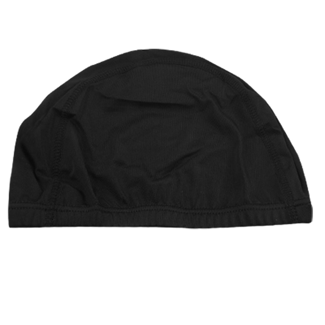 Woman Man Polyester Elastic Swimming Bathing Hat Cap Black