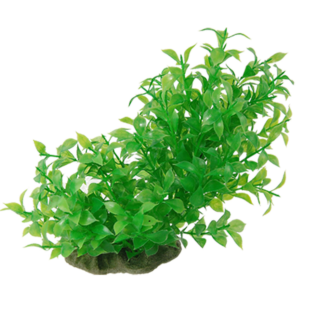 "6"" Length Green Plastic Grass Plant Decor for Fish Tank"