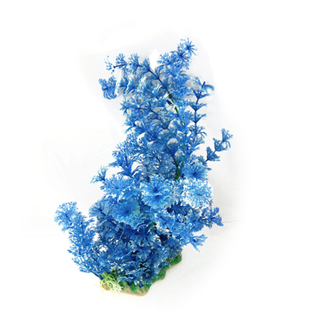 Fish Tank Aquarium Underwater Decor Plastic Plant Grass Blue White