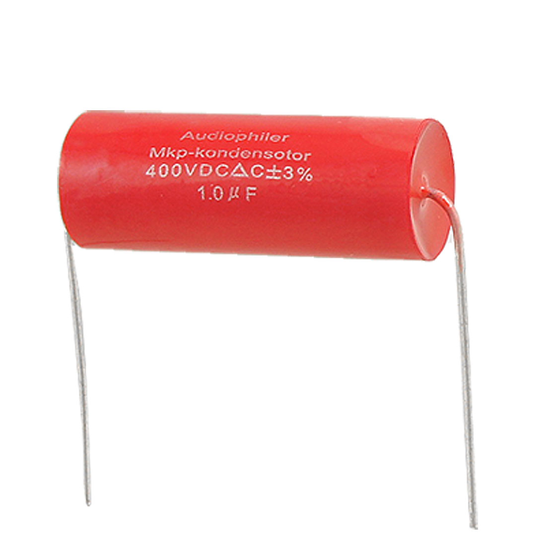 5 x 1uF 3% 400V DC Through Hole Electrolytic Tubular Audio Capacitor Red