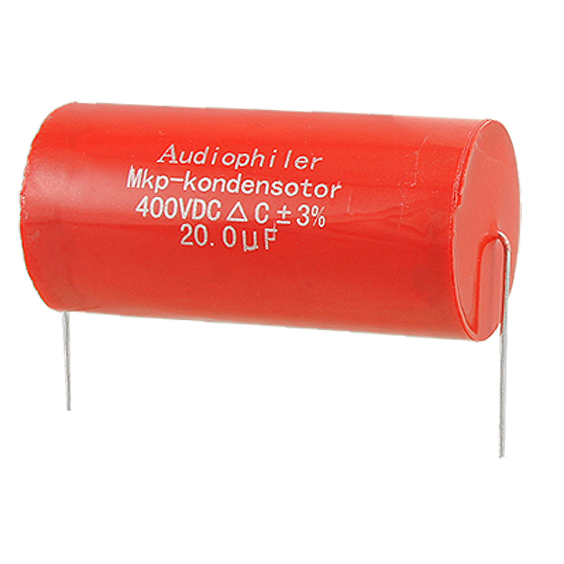 20uF DC 400V Axial Lead Electrolytic Tubular Audio Capacitor