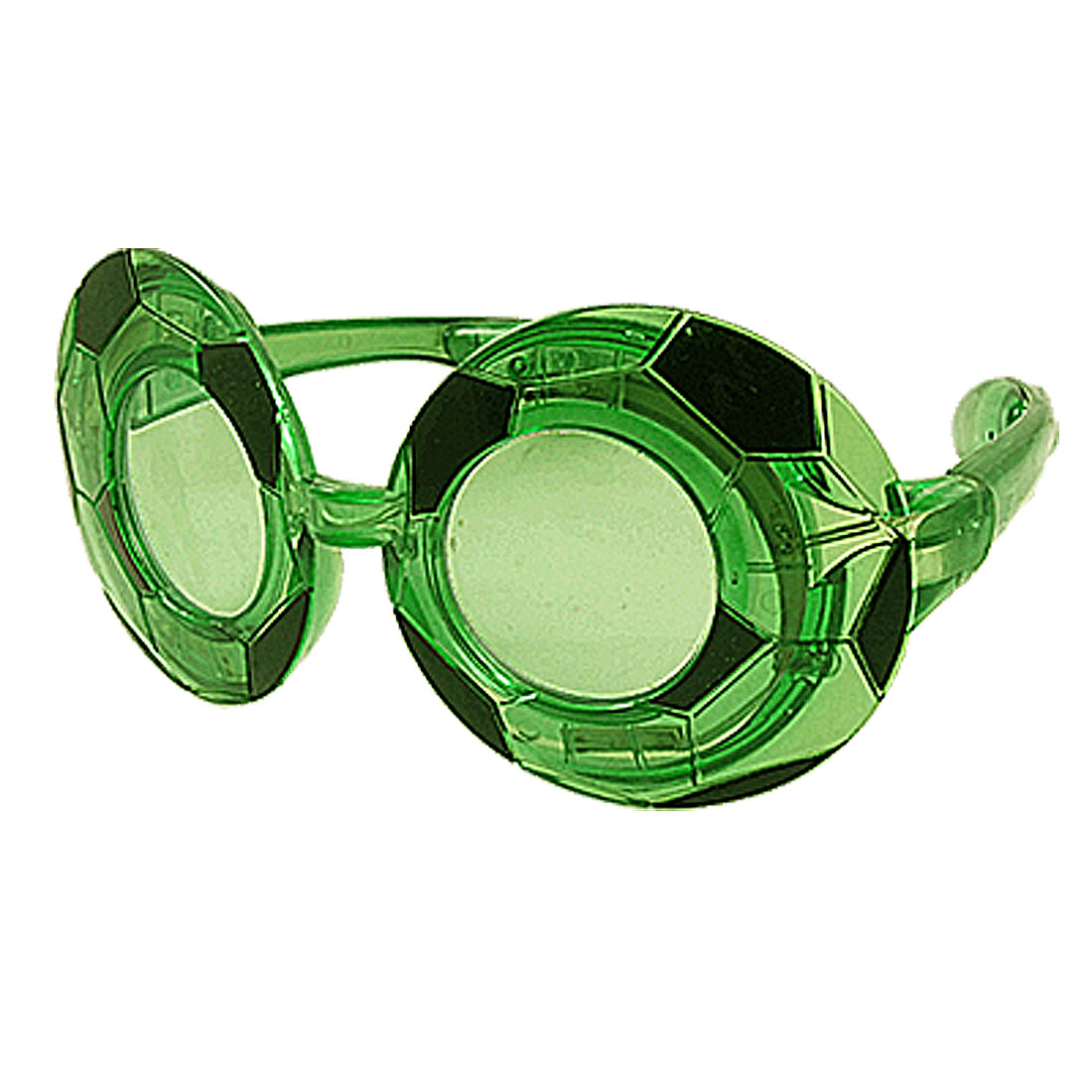 Costume Party Green Black Soccer Shape Frame 10 LEDs Glasses
