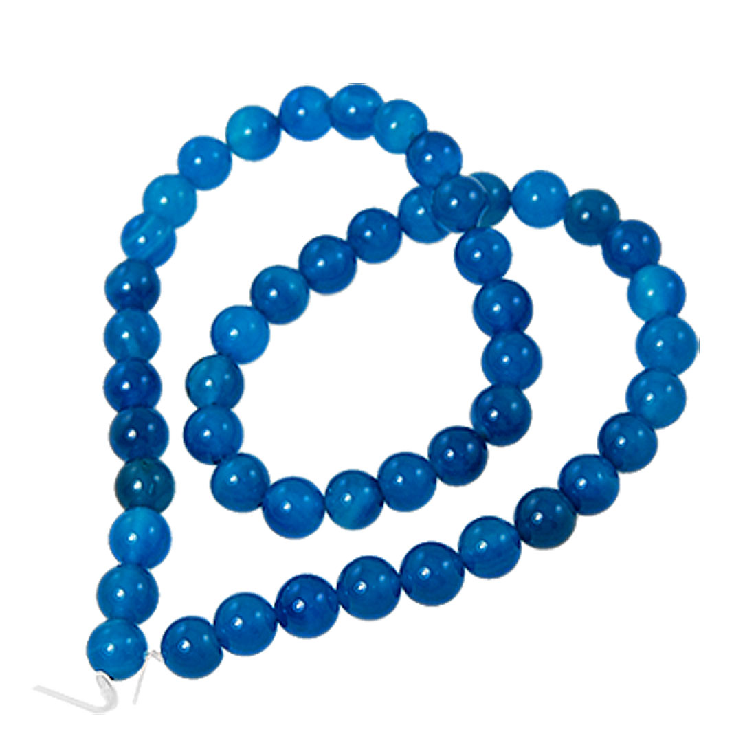 8mm Diameter 49 Round Blue Faux Jade Jewelry Pendant Beads