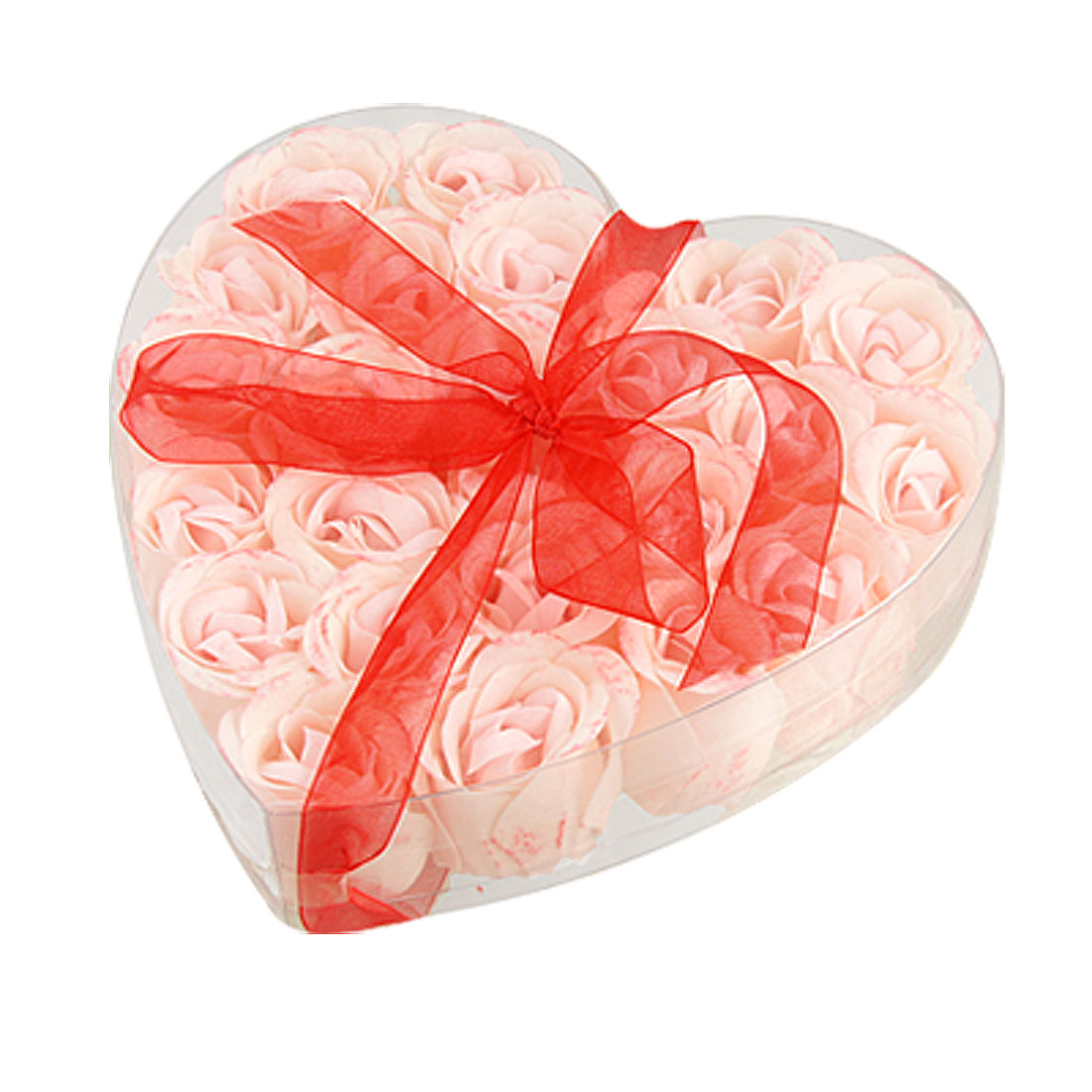 Pink Scented Bathing Soap Rose Petal 24 Pcs in Heart Box