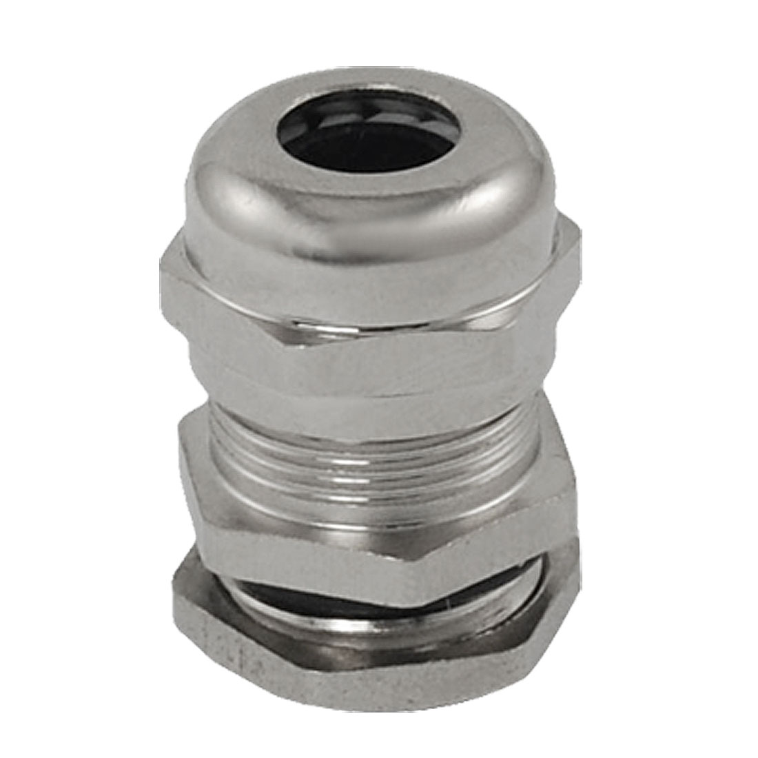 Silver Tone Stainless Steel 4.0-8.0mm M16 Cable Gland Connector