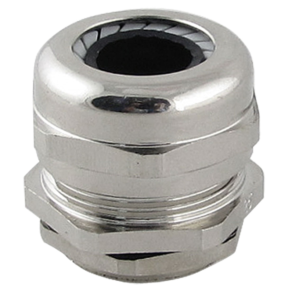Silver Tone Stainless Steel 10.0-14.0mm M25 Cable Gland with Locknut