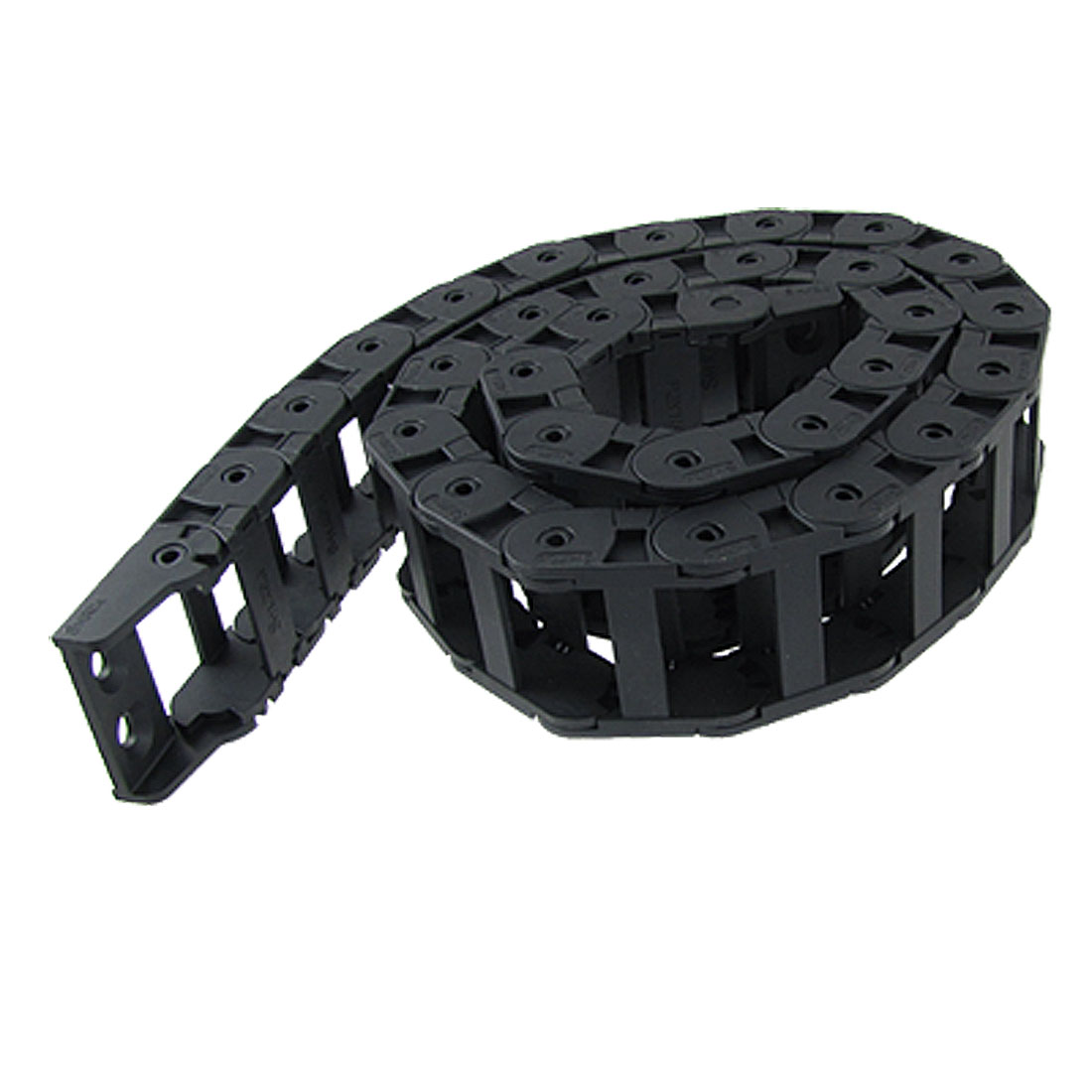 18 x 37mm Plastic Cable Drag Chain Wire Carrier Black 42 1/2""