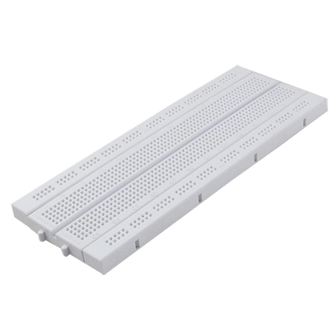 White Rectangular PCB Prototype Solderless Breadboard 840 Points