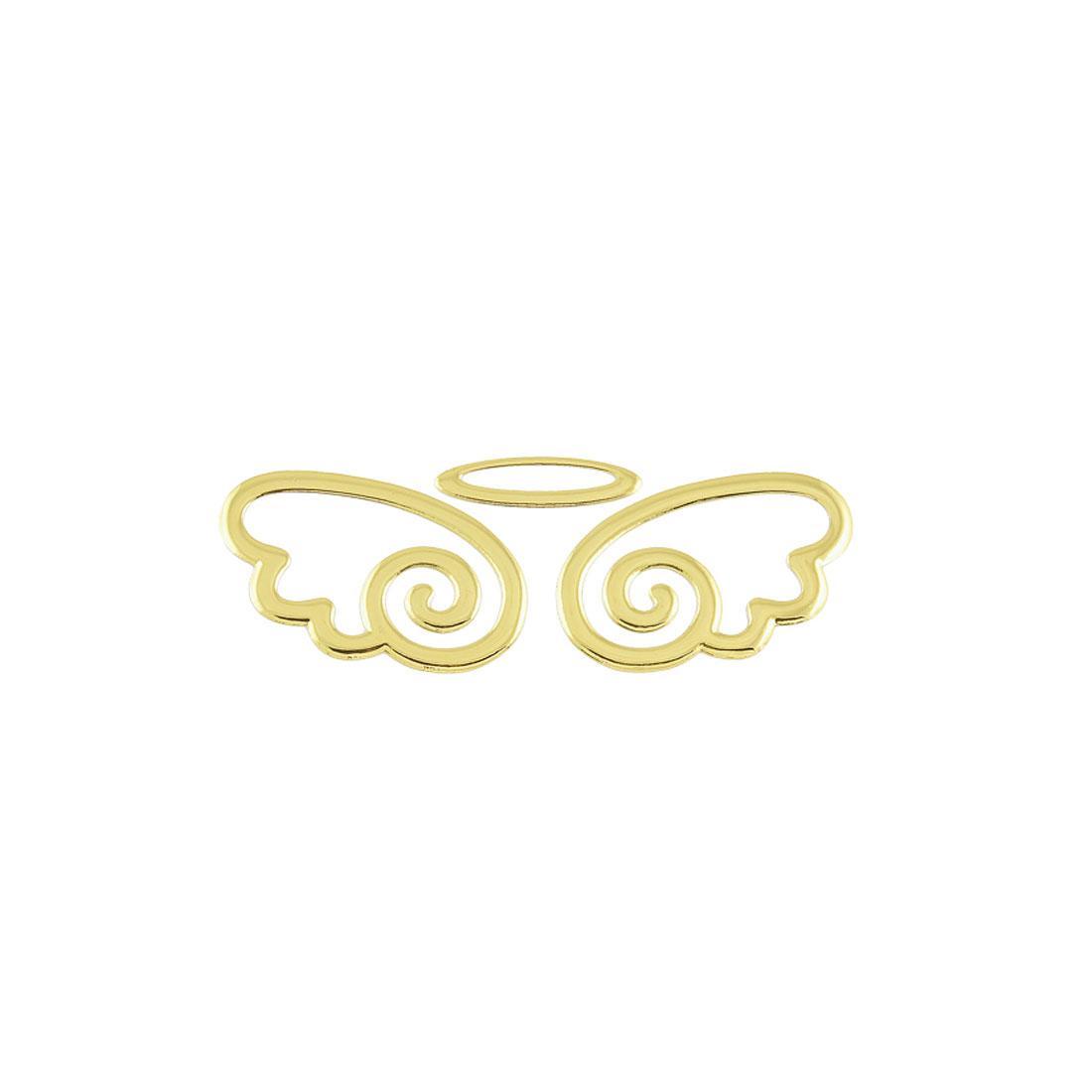 Car Auto Decorations 3D Angel Decal Sticker Emblem Logo Gold Tone