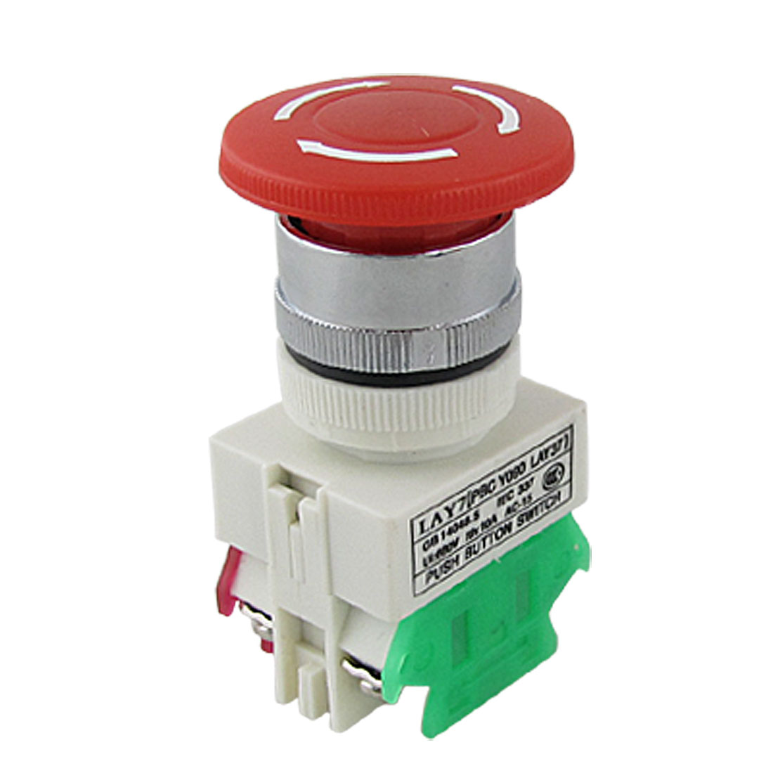 Self Locking Rotary Stop Emergency Push Button Switch 660V 10A