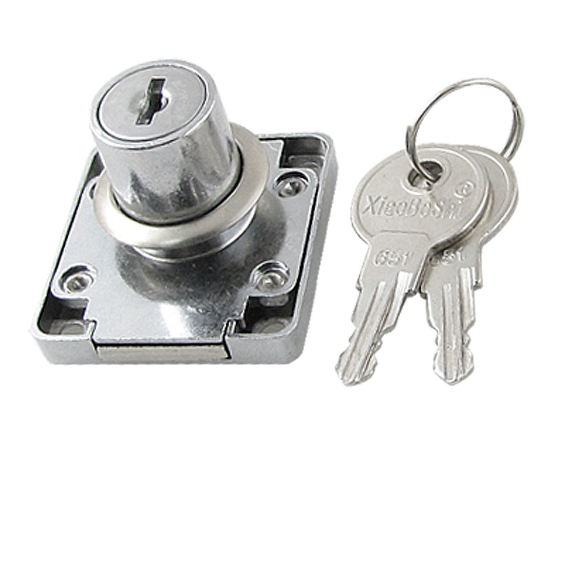 Security Hardware Metal Deadbolt Drawer Locker Lock w 2 Keys