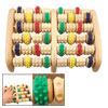 Foot Colorful Wheels Wooden Roller Relax Stress Relief Massager Board